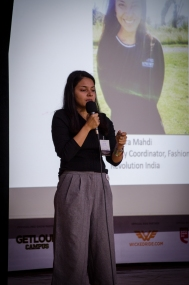 In conversation with Sara Mahdi, Deputy Country Coordinator, Fashion Revolution India. Photo credit: Beheld