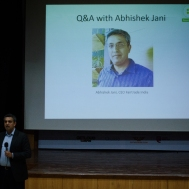 In conversation with Abhishek Jani, CEO of Fairtrade India. Photo credit: Beheld