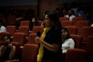 Q&A with Keya and Nidhi. Photo credit: Beheld