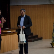 Rajesh Nair wins the lucky draw - a gift hamper from Fairtrade India
